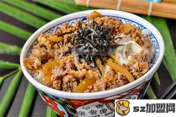 牛丼日式牛肉饭加盟费