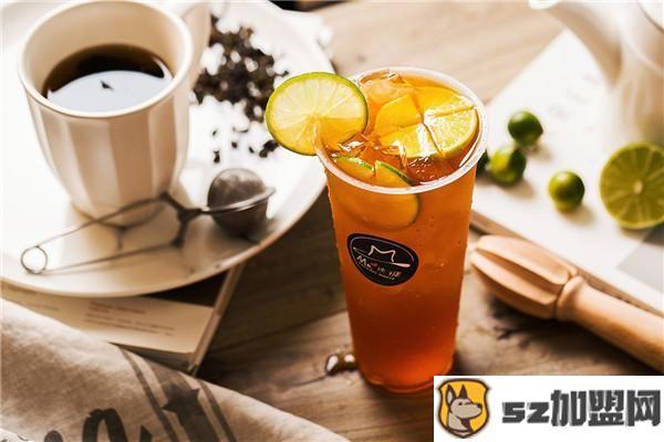 果麦奶茶柠檬饮品